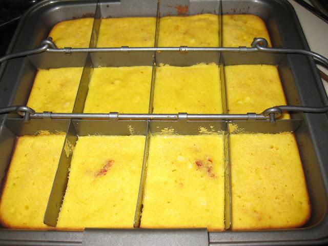 gluten free cornbread in pan