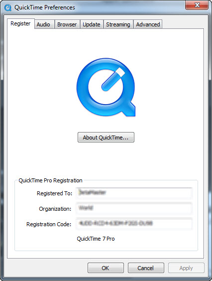 Export QuickTime MOV files using QuickTime 7 Pro player for Stock