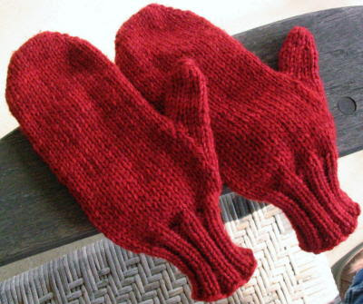 Top Down Mitten Pattern for Knitting