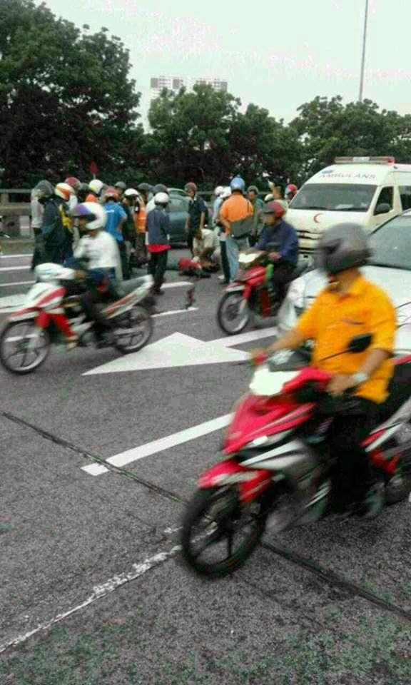 3 Gambar Kejadian Myvi Kelabu Langgar Lari Budak Sekolah di Seberang Jaya