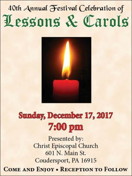 12-17 Lessons & Carols, Coudersport