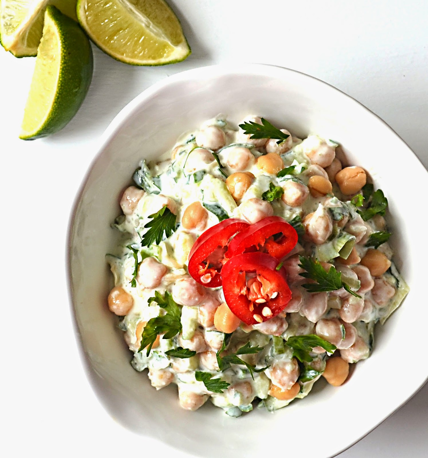 Sew French: Chili-Lime Tzatziki Chickpeas