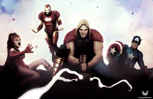 The Avengers por marcusheemann