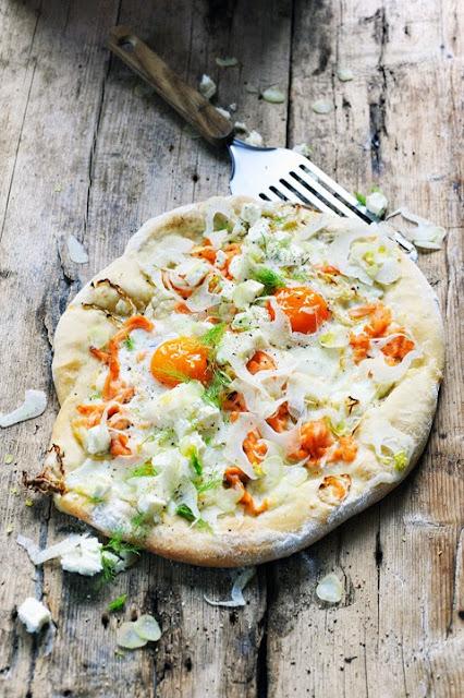 Et si finalement je refaisais quand même une recette… Pizza petit déjeuner en Suède…