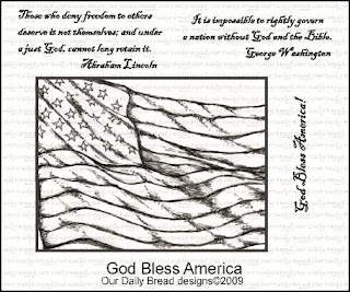 Our Daily Bread Designs Stamps - God Bless America