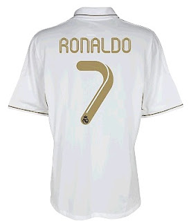 Back of the new Real Madrid home jersey 2011-2012