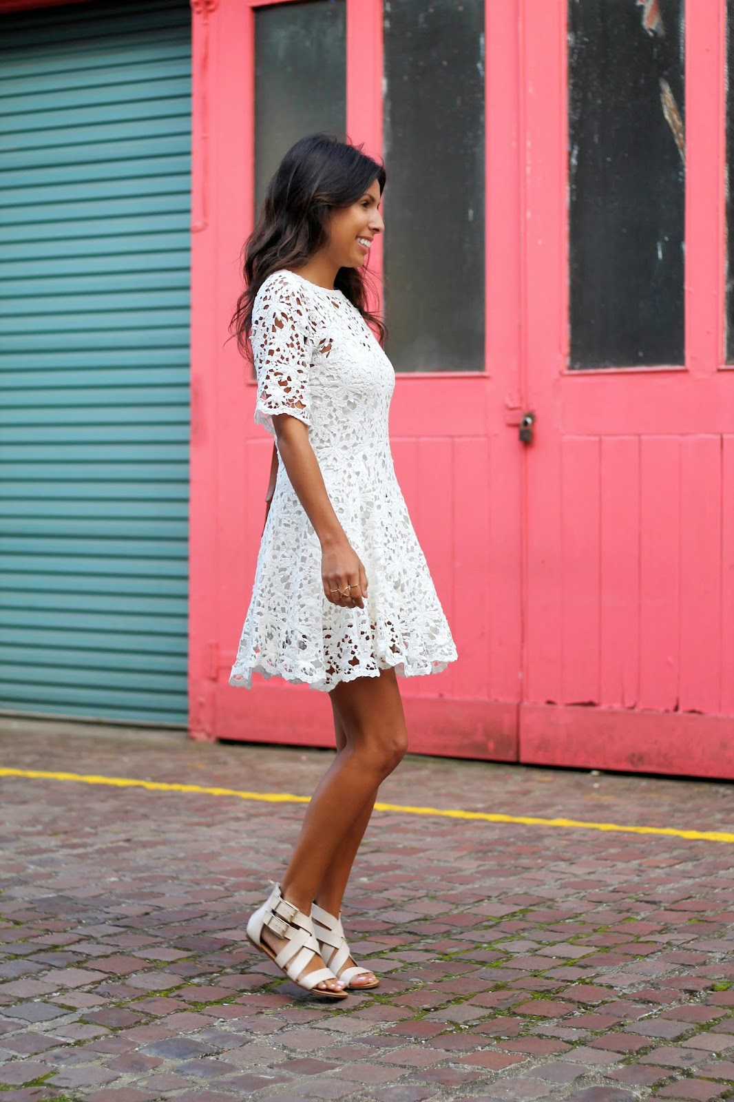 the stylist la, nightcap crochet dress, white after labor day, sole society accessories, summer outfit