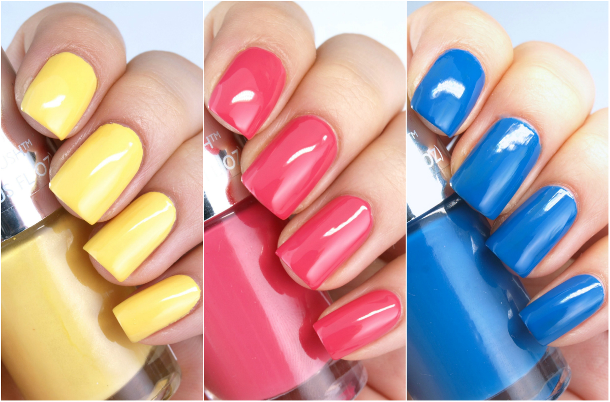 "The Body Shop Color Crush Nails Nail Polish in ""A Sunny Affair"", ""Cupid Pink"" & ""Mad About Blue"": Review and Swatches"