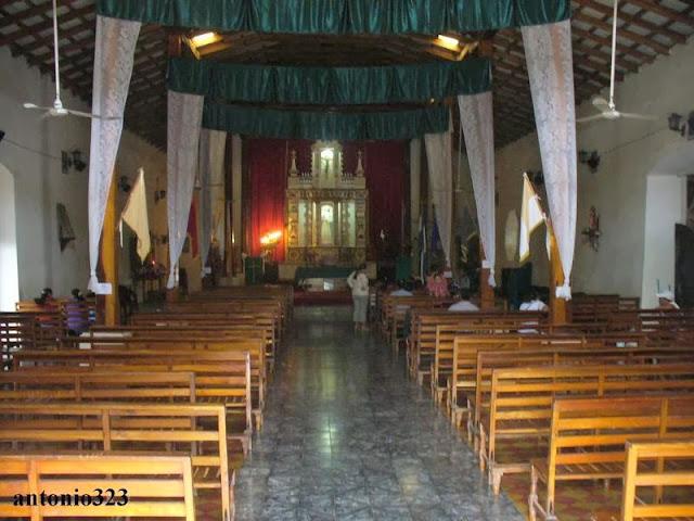 Interior de la Iglesia de Conchagua