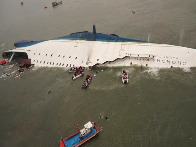 Dead Body Images of South Korea Ferry Sinking