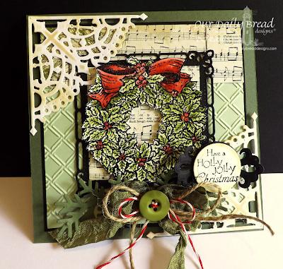 Our Daily Bread Designs, Holly Wreath, Custom Decorative Corners Dies, Custom Fancy Foliage Die