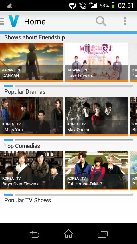Aplikasi Android Untuk Nonton TV, Film, Drama Korea, Anime Jepang
