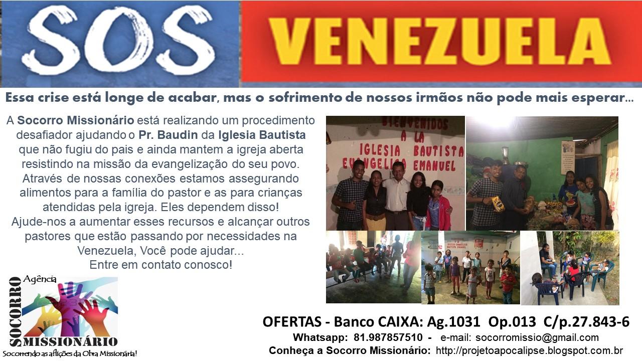 Ajude no apoio e evangelização dos Refugiados Venezuelanos!