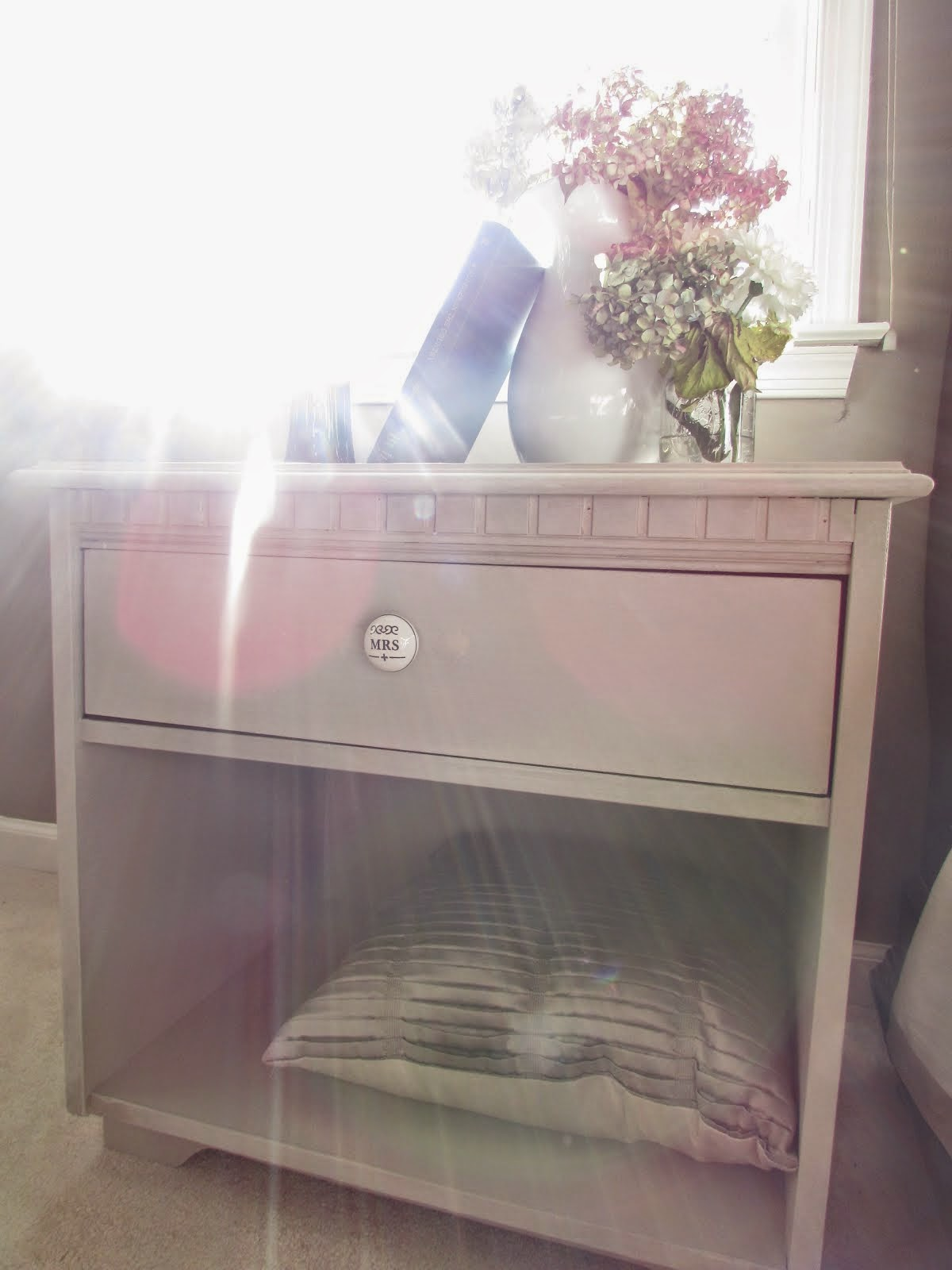 Gray Painted Nightstands