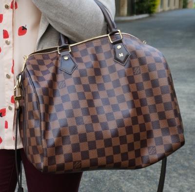 Louis Vuitton Damier Ebene 30 speedy bandouliere