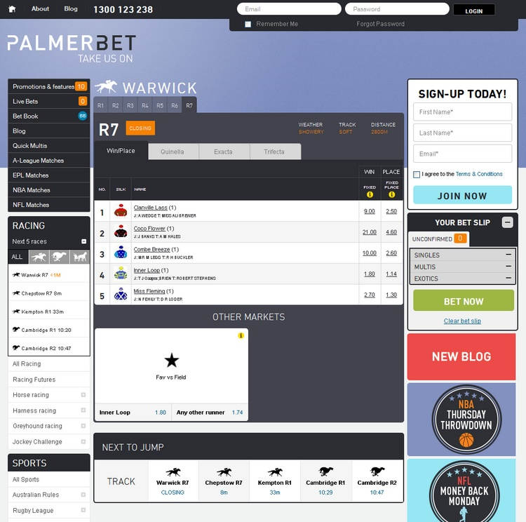 Palmerbet Racing Warwick Offers