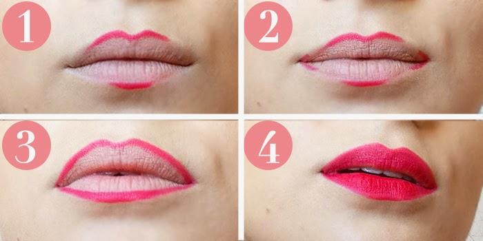 Cómo perfilar labios rojos