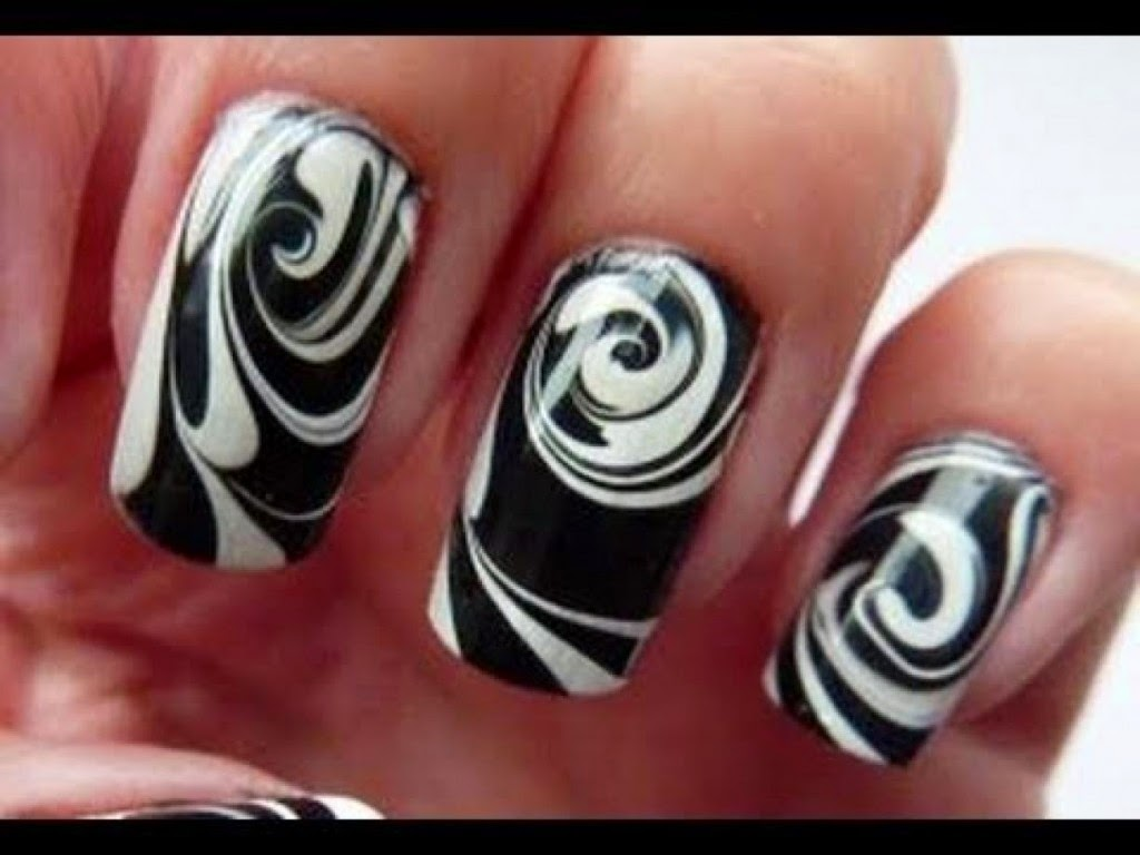 Black And White Crazy Nail Art Design Fashions Feel Tips And