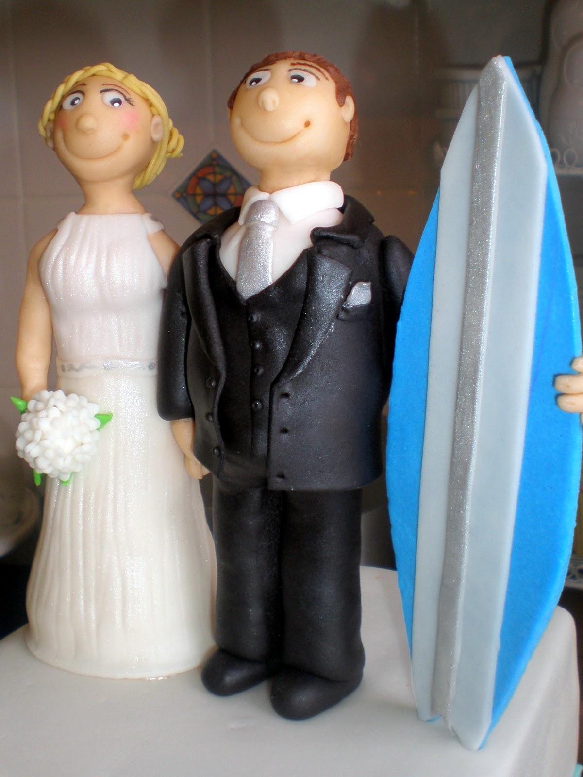 Sugar Siren Cakes Mackay Beach Surfing Wedding Cake with