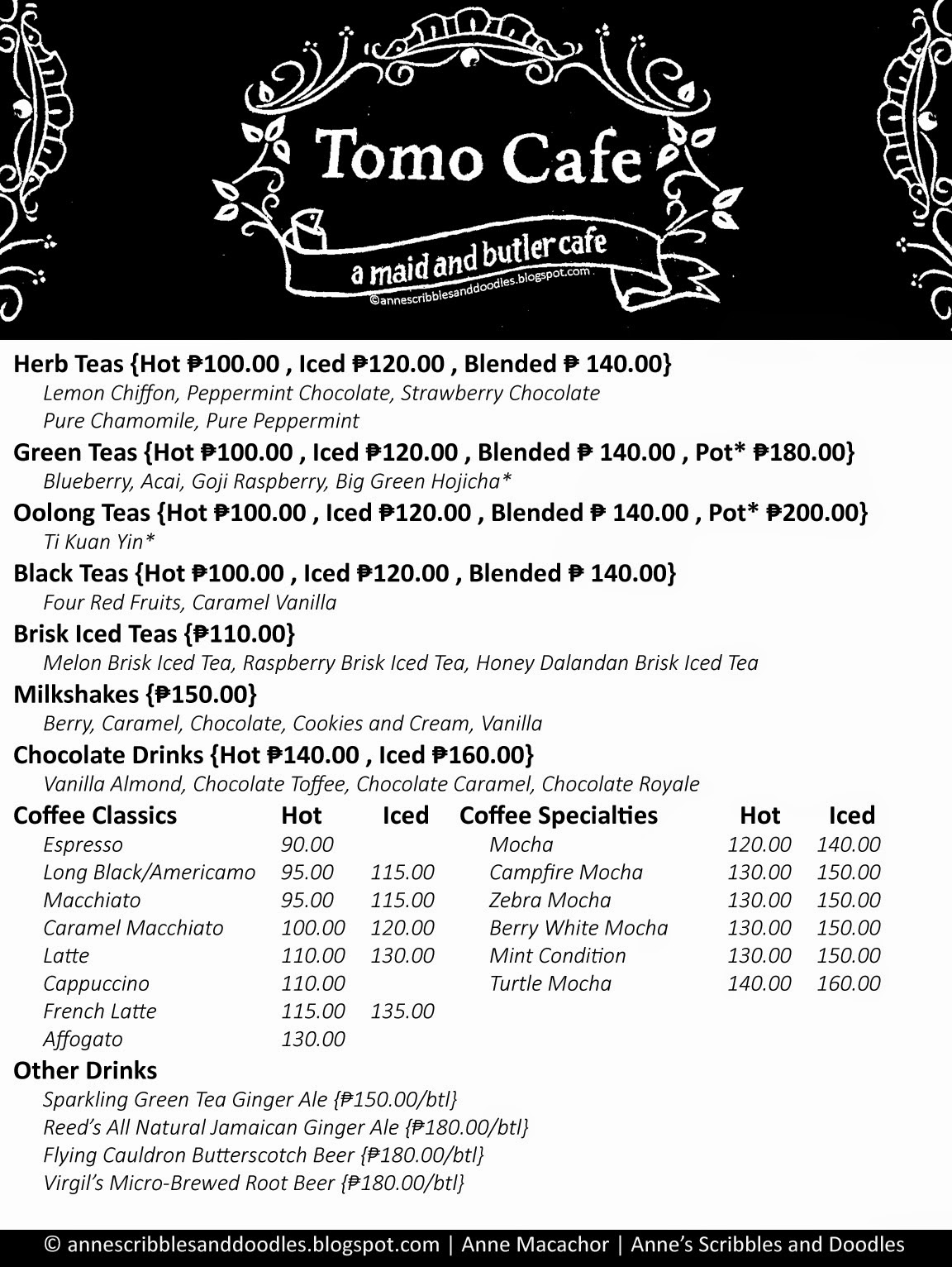 Tomo Cafe Menu