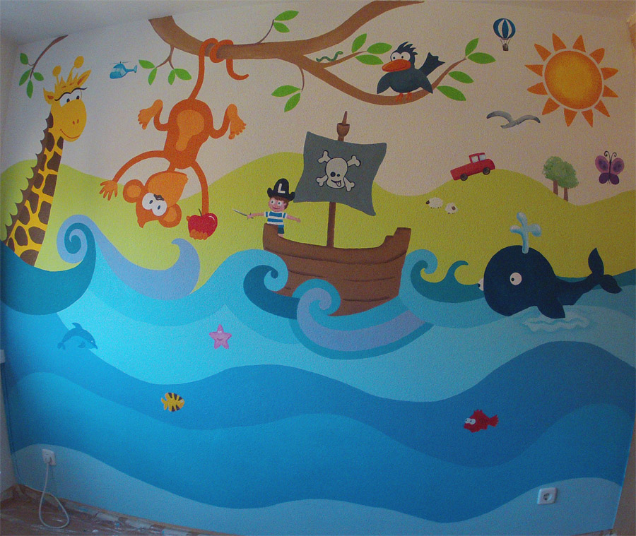 Decopared murales infantiles for Decoracion para jardin infantil