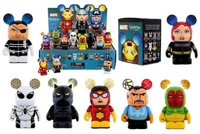 Marvel Vinylmation Series 1 by Disney - Nick Fury, Black Widow, Future Foundation Spider-Man, Black Panther, Spider-Woman, Doctor Strange & Vision