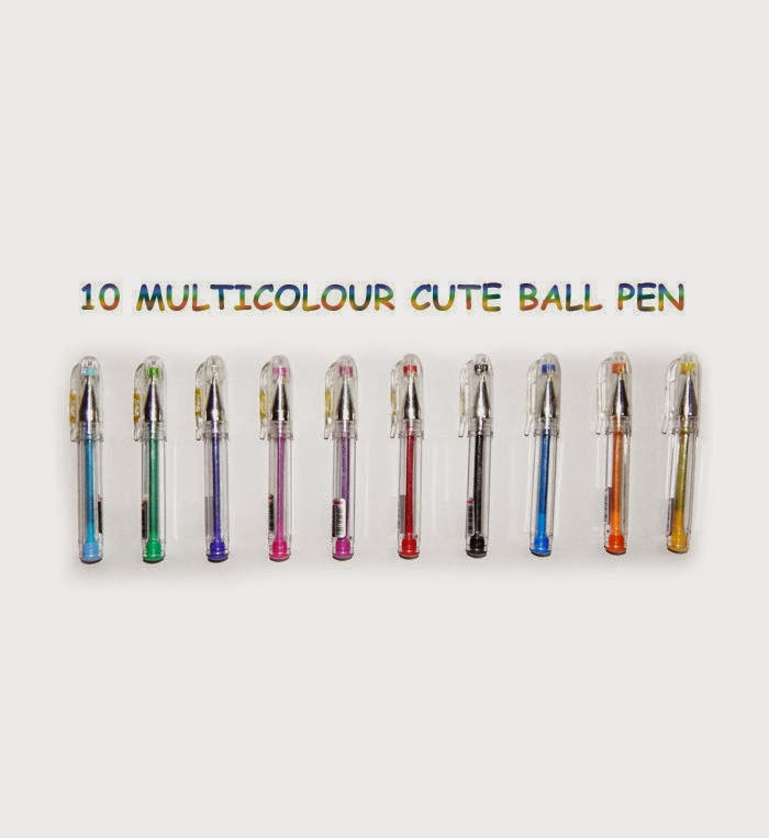 Multicolour Ball Pen Pack Of 10 at Rs. 119