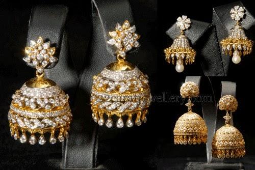 diamond jhumkas indian - photo #14