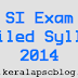 Sub Inspector Exam Detailed Syllabus 2014