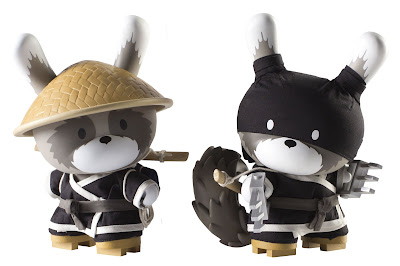 Kidrobot Day & Night Black Raku 8 Inch Dunnys by Huck Gee