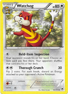 Watchog Furious Fists Pokemon Card