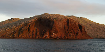 Approaching Rabida Island in the Galapagos from Boat