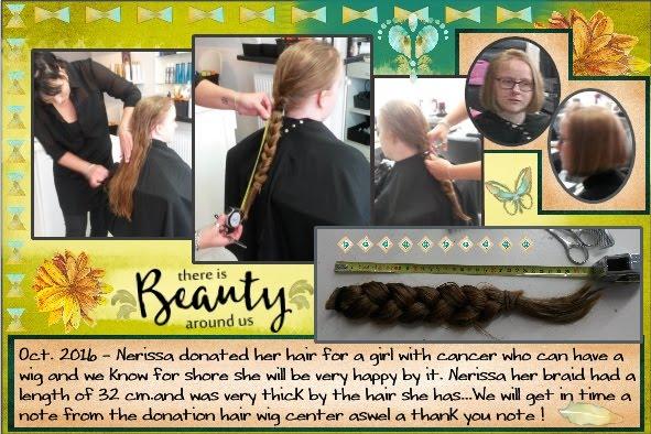 Oct.- 6 - 2016 - Nerissa donate her hair .