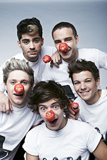 One Direction 2013 red nose wallpaper