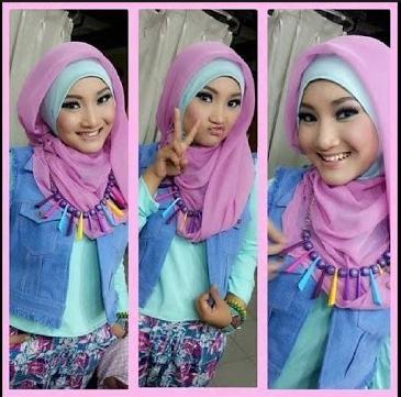 Gaya dan Model Hijab Modern Ala Artis Terbaru 2016 image