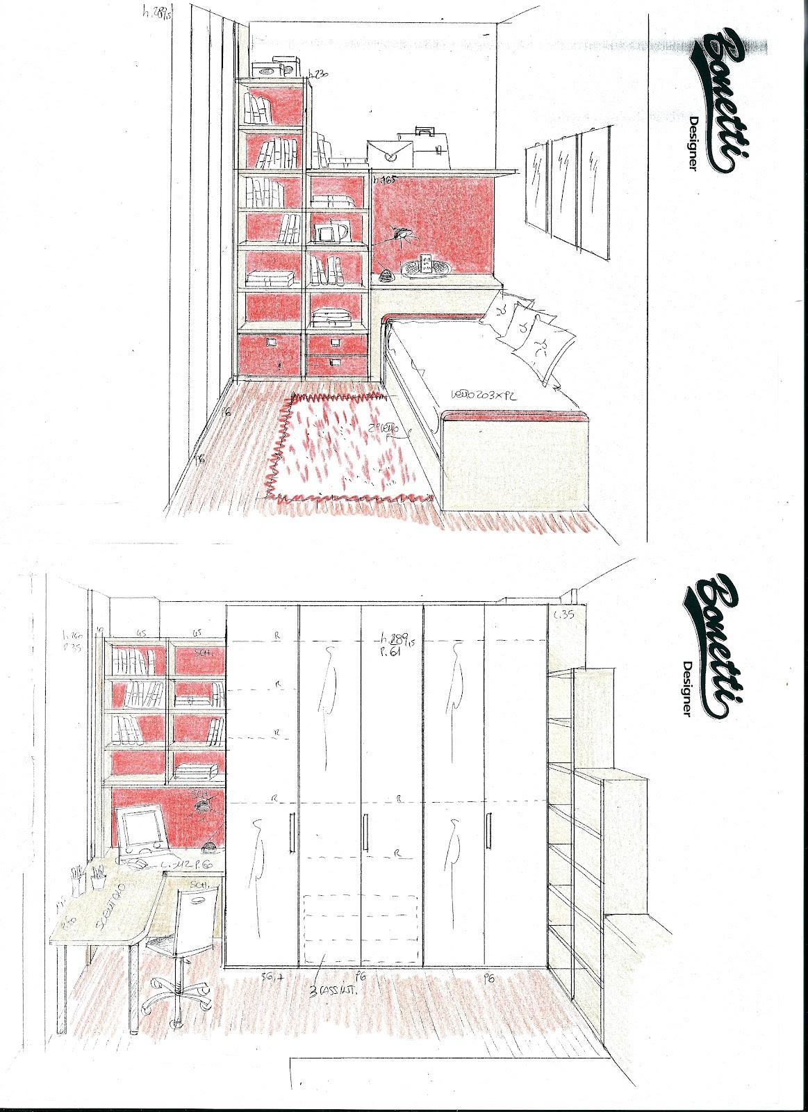 camerette piccole camerette bambini : BONETTI CAMERETTE BONETTI BEDROOMS: PROGETTI CAMERETTE PICCOLE