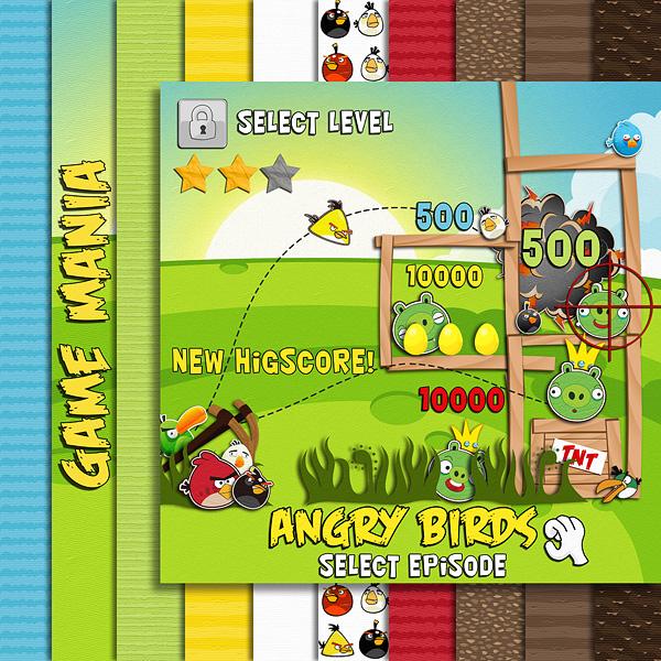 "Free scrapbook ""Game Mania"" from Damayanti Studio"