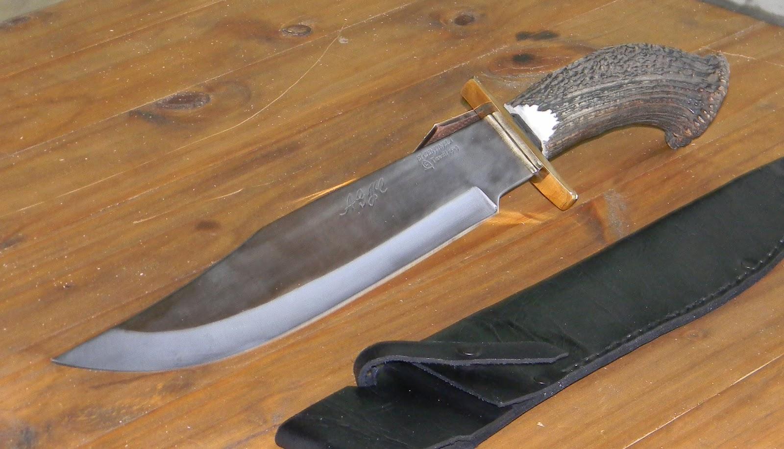 El centinela cuchillos artesanales nuevo bowie - Como hacer soporte para cuchillos ...