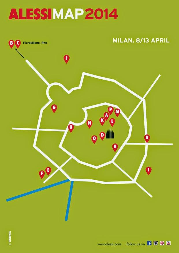 Alessi Map 2014 - Salone del mobile di Milano