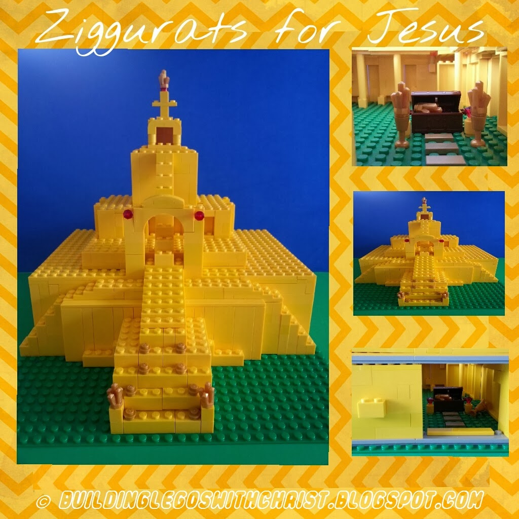 LEGO Ziggurat, Mystery of History, Homeschooling with Lego Bricks, Building Legos with Christ