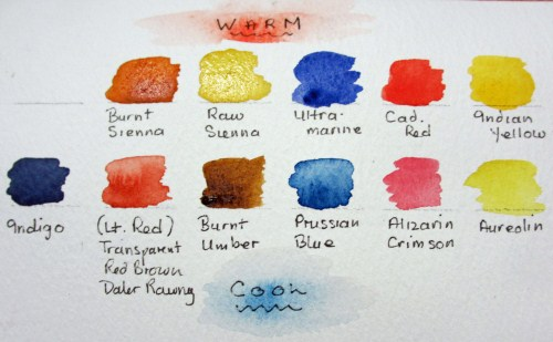 watercolours by polly birchall warm cool colours. Black Bedroom Furniture Sets. Home Design Ideas