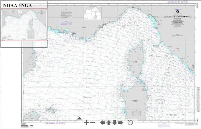 Carte Marine Presqu'ile de Giens à Presqu'île de Giens