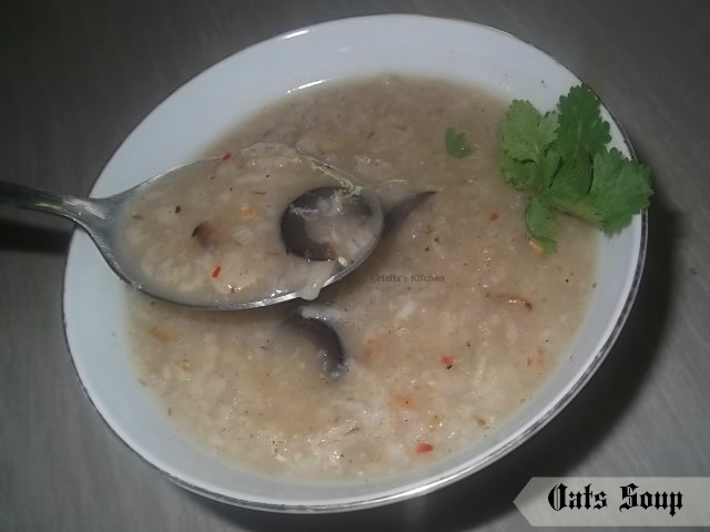 Diet recipes, oats soup