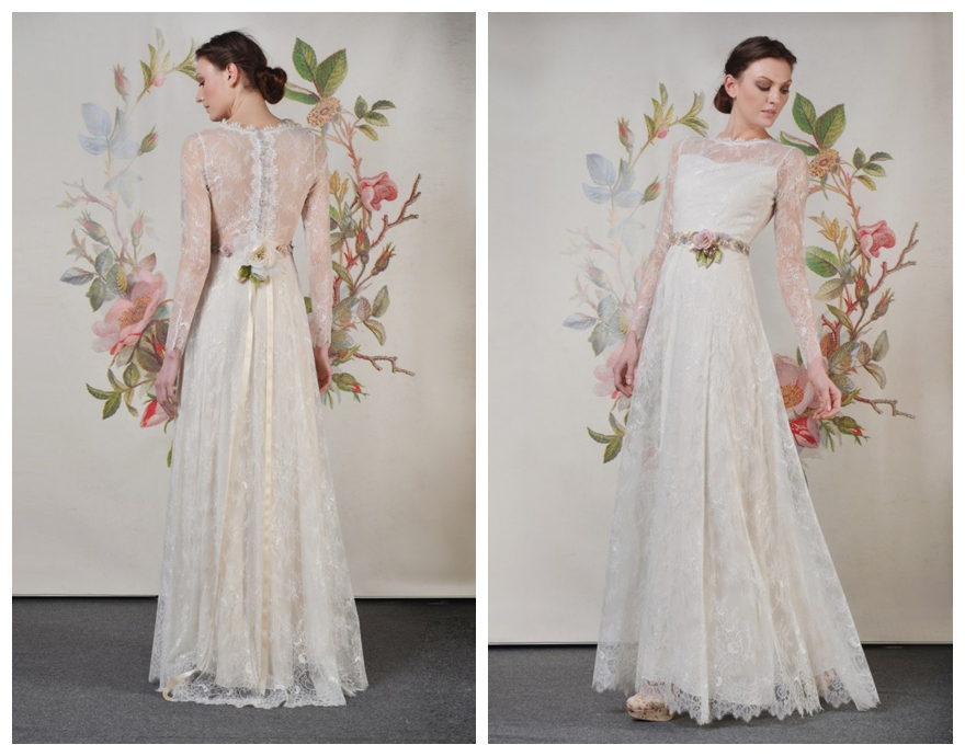 Romantic layered wedding gowns by claire pettibone for Where to buy claire pettibone wedding dress