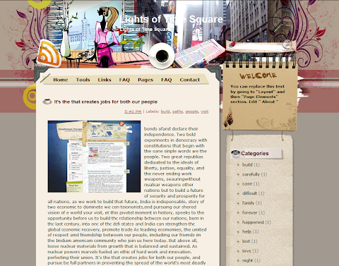 Lights of Time Square Blogger Theme