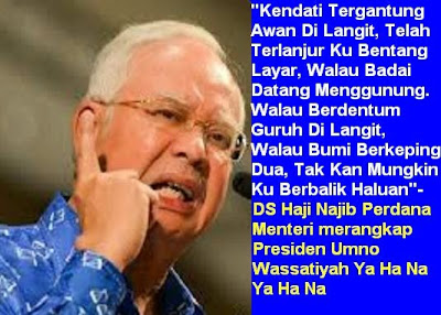 DS Najib Tolong lah Jangan Mengaku Sebagai Orang Bugis Jika Dengan Bini Pun Takut Kah Kah Kah