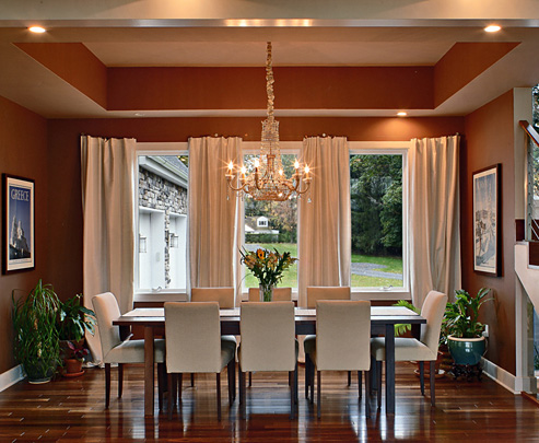 Home interior design and decorating ideas dining room for Dining room curtains ideas