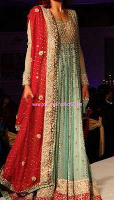 Latest Dresses Collection 2013: Pakistani Bridal Lehanga Dresses 2013