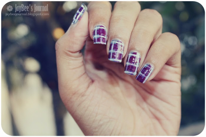 Fall Plaid Nail Art Tutorial, Pakistani beauty nail art blog