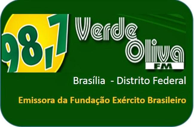 Rádio Verde Oliva FM de Brasília ao vivo, a rádio do Exército Brasileiro